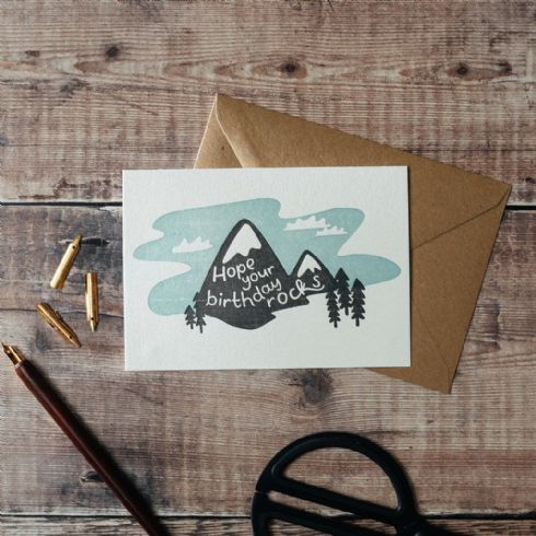 in klöver | ni design - Hunter Paper Co - Hope Your Birthday Rocks Greetings Card